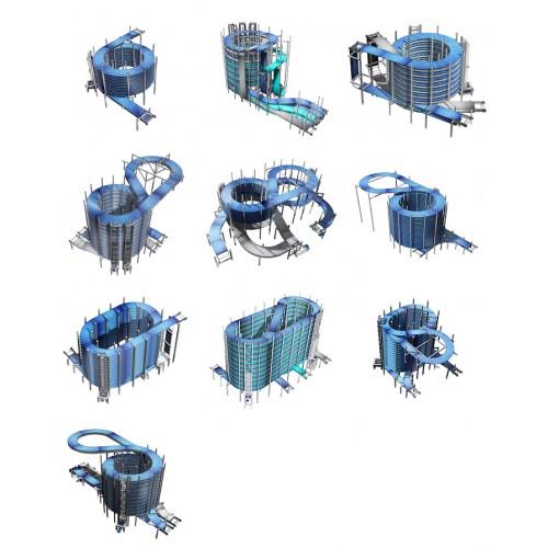 tecnopool - spiral conveyor